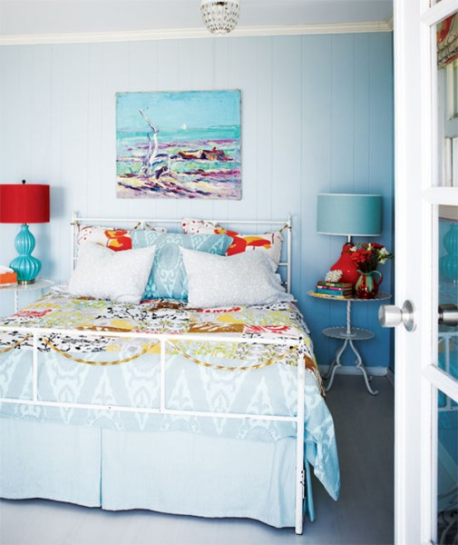 turquoise bohemian bedroom ideas Teresa Wiwchar's Beach House With A Turquoise Interior