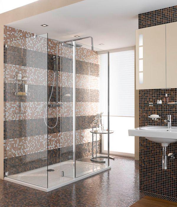 bathroom using shower caddies