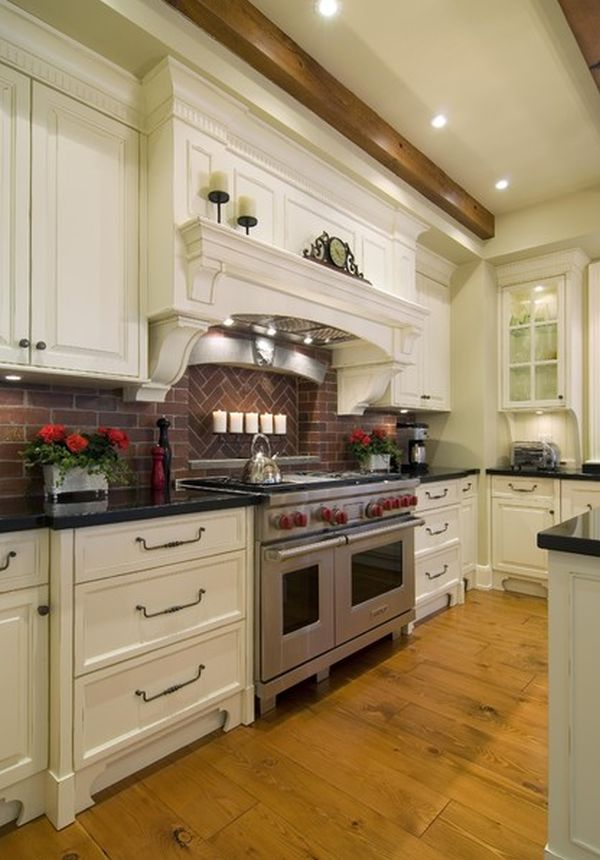brick backsplash in kitchen booster seat backsplashes for warm and inviting cooking areas view