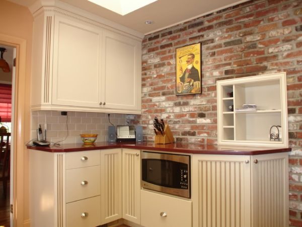 brick backsplash in kitchen small tv for backsplashes warm and inviting cooking areas view gallery elegant traditional