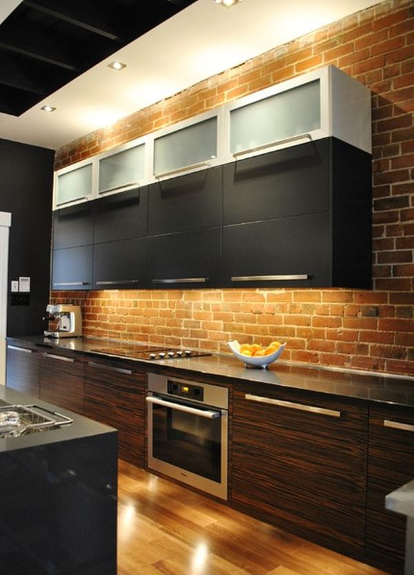 brick backsplash in kitchen gray mat backsplashes for warm and inviting cooking areas view