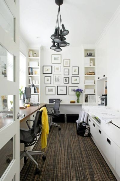 black and white home office Decorating A Black & White Office: Ideas & Inspiration