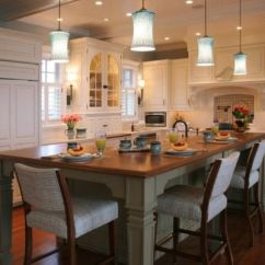 Kitchen Table Island Combo Cabinet Organizer Ideas 30 Islands With Tables A Simple But Very Clever Built In Sink And View