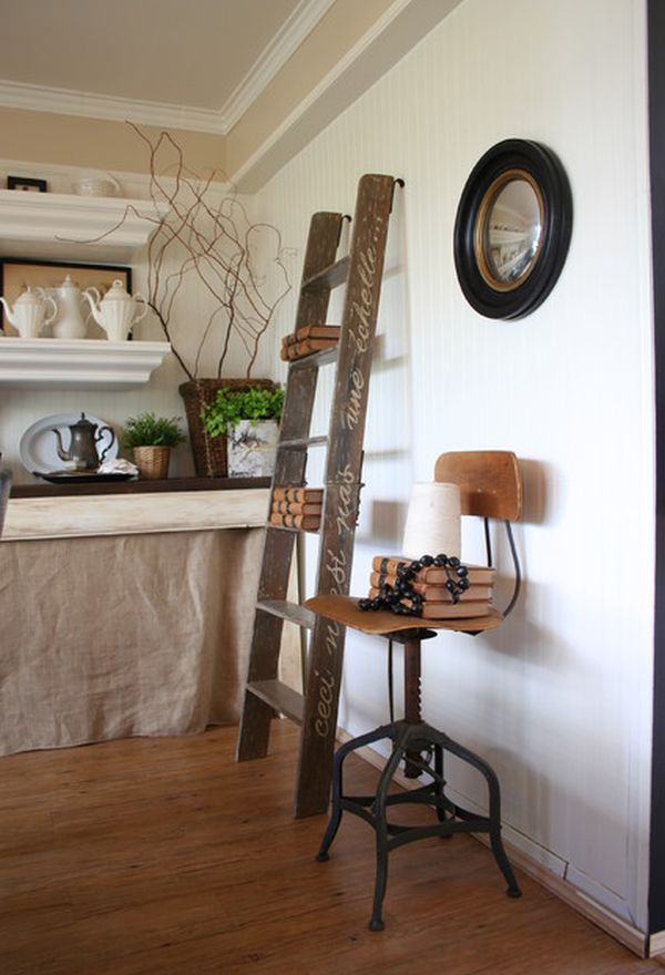 Ladders an unexpected interior dcor element with lots of