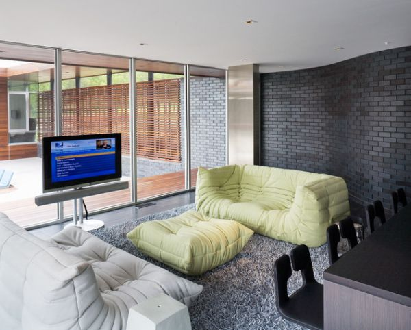 contemporary artwork living room furn rooms featuring comfortable and stylish togo sofas