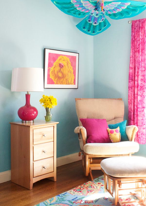 Ombre wall DIY projects ideas and suggestions