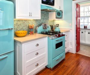 colored kitchen appliances knobs and handles infused with retro charm are making a eye catching fun colorful way of standing out