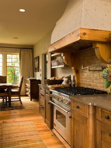 rustic french country kitchen backsplash Decorative kitchen hoods, both functional and beautiful