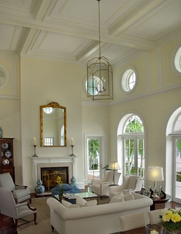 lighting ideas for living room high ceiling anthropologie style 10 design pitched view