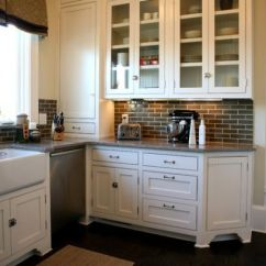 Brick Backsplash In Kitchen Metal Cart Backsplashes For Warm And Inviting Cooking Areas With Grey Stove Wall View