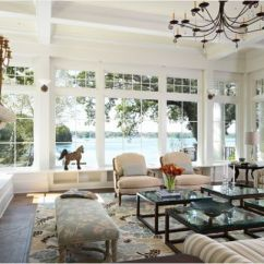 Living Room Big Window Hutch Furniture How To Decorate A With Large Windows