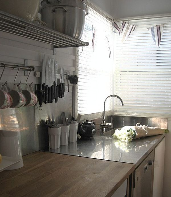 kitchen knife magnet outdoor islands the advantages of having a magnetic holder in view gallery practical and handy rack placed above sink
