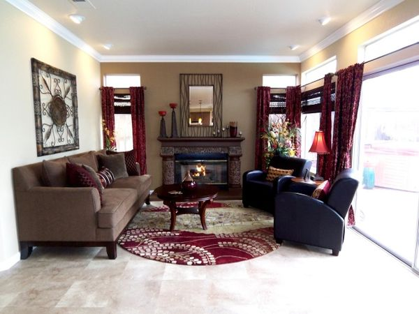 carpet for living room how to decorate small decorating a cranberry-colored room: ideas and ...