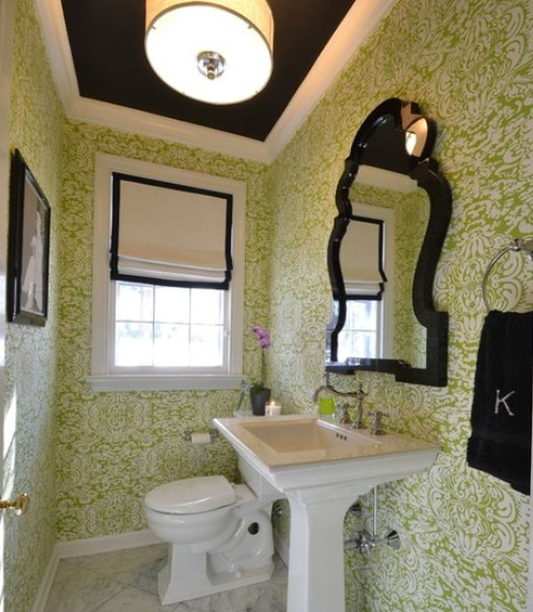 Interesting Black And Green Color Combos Used In Interior
