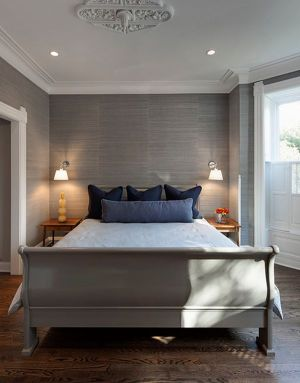 bedroom master gray accent grey letto camera grigia colors idea patterns contemporary bed paint rock living decorating interior tree furniture