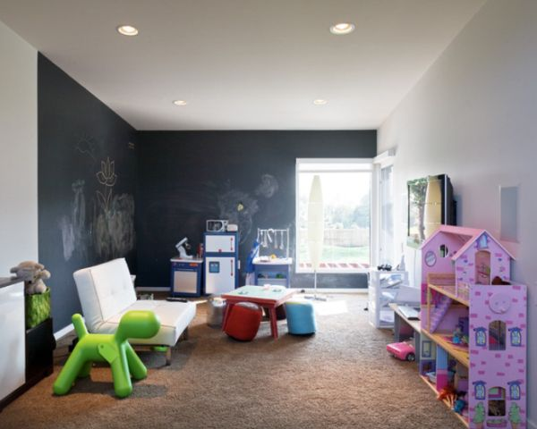 Chalkboard accent walls  fun and functional great for all types of spaces