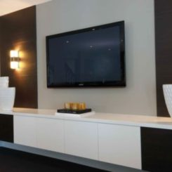 20 Ways To Incorporate Wall Mounted TVs And Shelves Into Your Decor