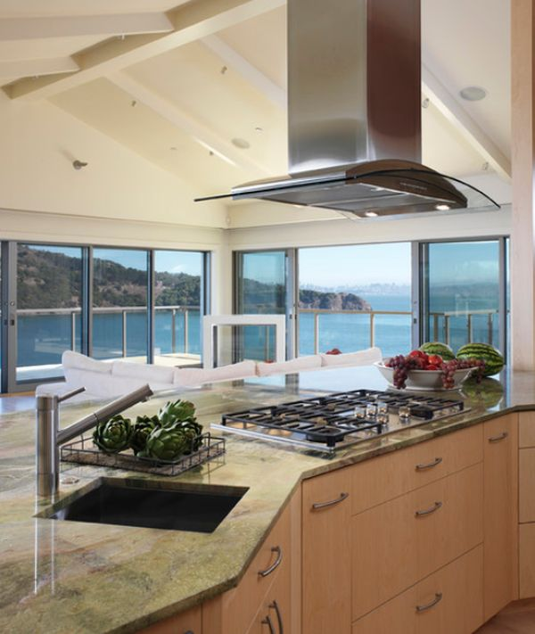 kitchen hood design table with 6 chairs stainless steel designs and ideas