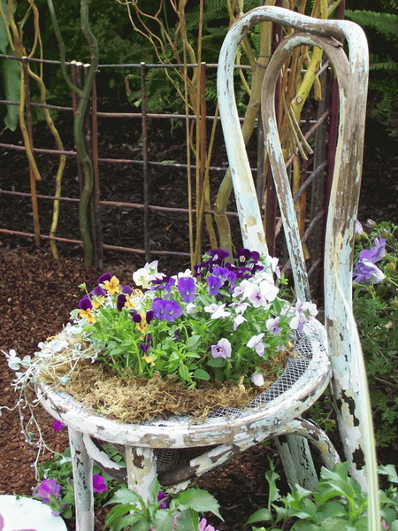 chairs that turn into beds stool chair top old beautiful flower and planters