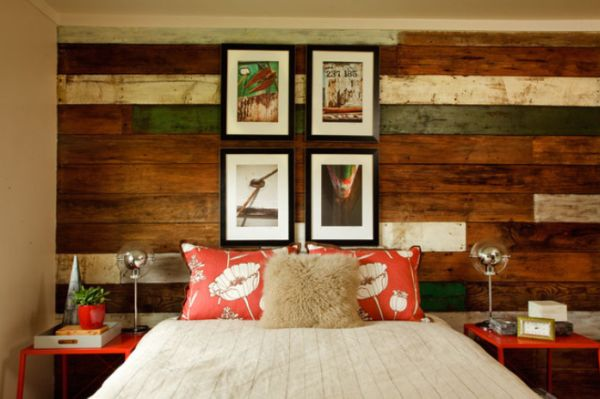 reclaimed wood accent wall. To make things more interesting, use wood ...