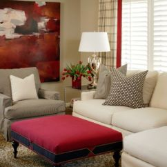 Contemporary Sofa Designs For Living Room Dfs Grey Fabric Sofas How To Work With Red Create Vibrant And Elegant Decors