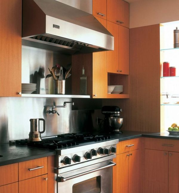 Stainless steel kitchen hood designs and ideas