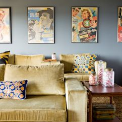 Framed Artwork For Living Room Beachy Curtains How To Decorate Using Posters Featuring An Oversized Poster View