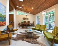 Stylish decors featuring warm, rustic, beautiful wood ceilings
