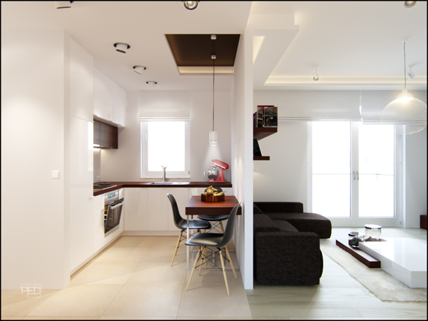 A 40 square meter flat with a clever and spacious interior dcor by Pressenter Design