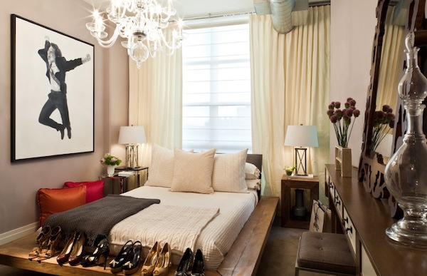 bringing life to your small bedroom while saving valuable space