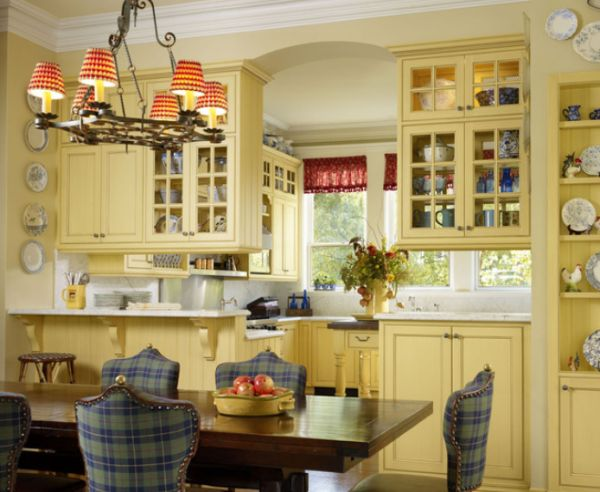 french country kitchens kitchen island with cooktop 15 bright living rooms comfortable and inviting interiors chic