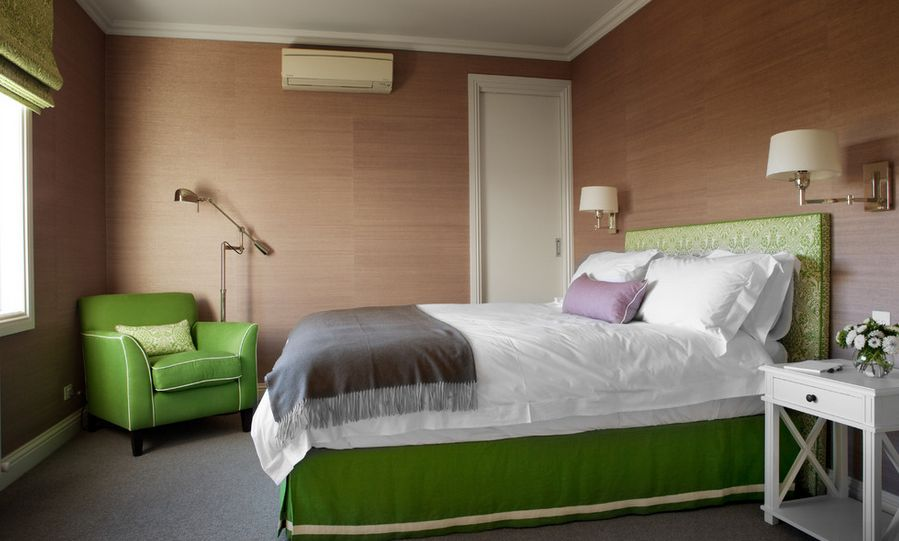 Green Bedroom Furniture Brown Walls Home Decorating