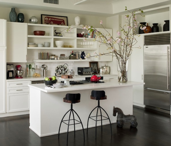 kitchen open shelves bar stools for beautiful and functional storage with shelving ideas