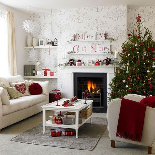 christmas decorating ideas for small living rooms room center bedford indiana 42 tree you should take in consideration with white decorations and tiny lights view