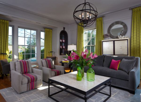 living room accents floor tile designs for rooms decorate a modern with colorful accessories