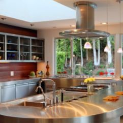 Kitchen Cabinets Design With Islands White Beadboard 10 Beautiful Stainless Steel Island Designs