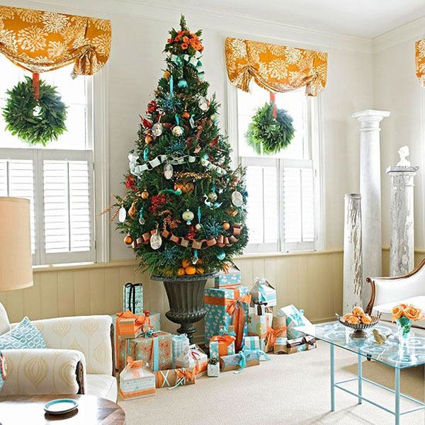 christmas decorating ideas for small living rooms how to arrange room furniture in a rectangular with fireplace 42 tree you should take consideration view gallery