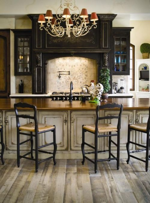 Country Decorating Ideas Interiors Design Style Open Concept Kitchen Island Dining Bar Seating