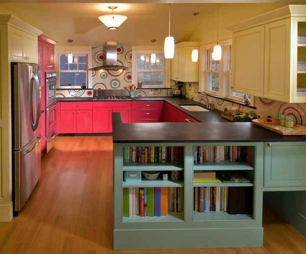 coral kitchen cabinet colors Brighten Your Creative Kitchen With Colorful Cabinetry Ideas
