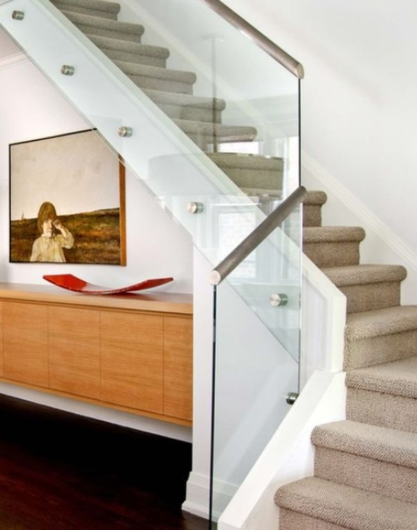Modern Handrail Designs That Make The Staircase Stand Out | Glass And Chrome Staircase | Contemporary | White Post | Single Spine | Lights | Stainless Steel