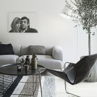 Minimalist Nordic interior With Shades Of Grey And Natural ...