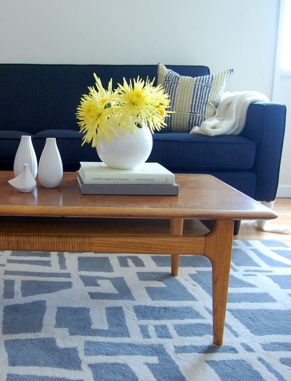 Cobalt Blue And Yellow This Is Our Living Room Bookshelf Styling Home Ideas Bright Bold Beautiful Blog