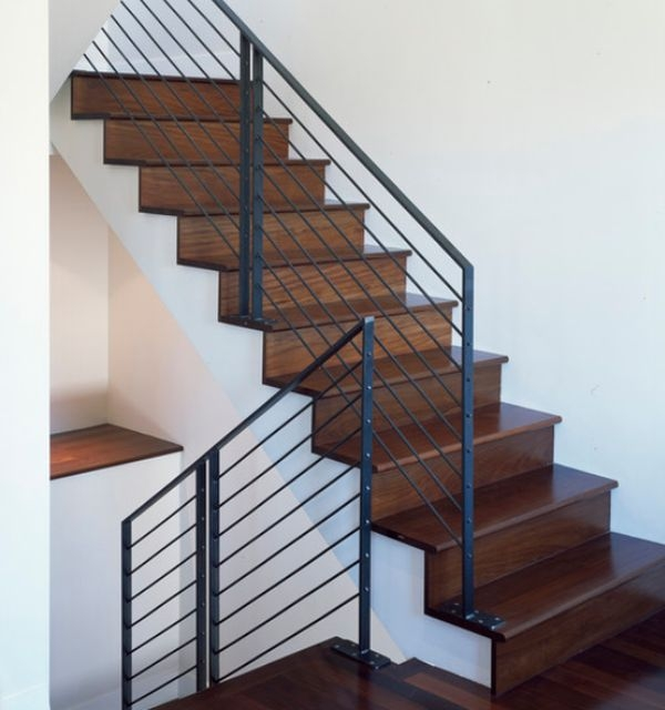 Modern Handrail Designs That Make The Staircase Stand Out | Black Modern Stair Railing | Glass | Raised Ranch | Minimalist | Interior | Chris Loves