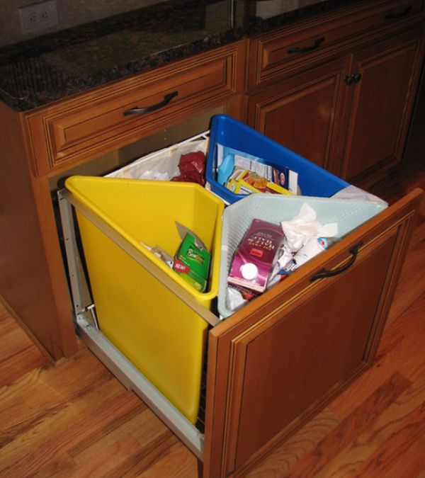 Kitchen Pull Out Trash Bins Both Functional And Aesthetical