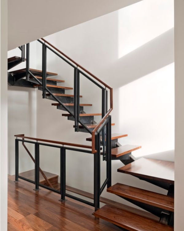 Modern Handrail Designs That Make The Staircase Stand Out | Modern Wood Staircase Railing | Residential | Interior | Floor To Ceiling | Ultra Modern | Traditional Wood Stair
