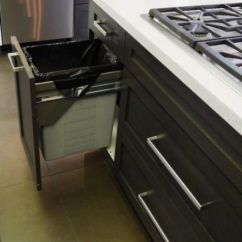 Kitchen Trash Bin Cabinet Organizer Pull-out Bins, Both Functional And Aesthetical