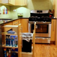 Kitchen Pull Out Trash Can Gourmet Appliances Pull-out Bins, Both Functional And Aesthetical