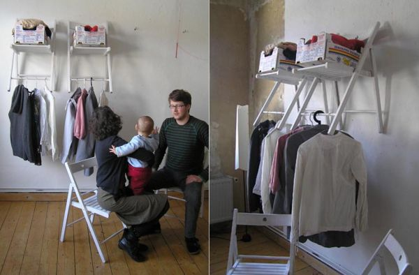 chair upside down on wall shower with wheels 17 multi purpose furniture that changes function in no time chairs up and