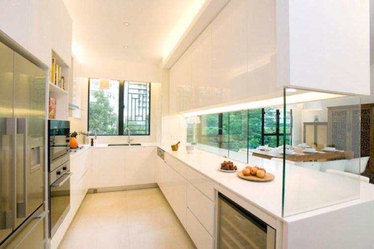 kitchen set kaca