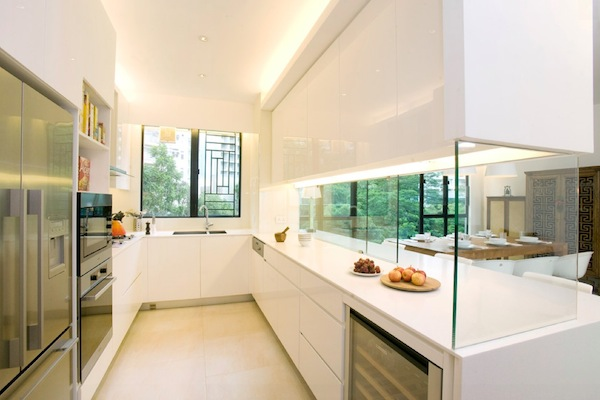 kitchen divider flooring for simple ideas to change your with glass counters cabinets interior